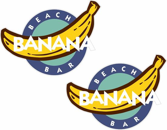 Picture of Banana Beach Bar Decals / Stickers