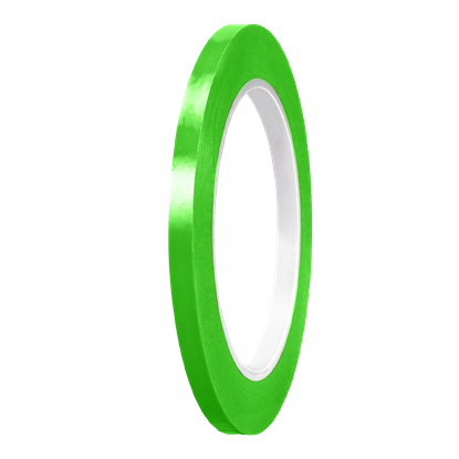 Picture of Lime Green Gloss cast PVC Stripe (6mm x 35meters)