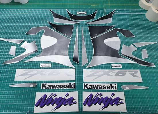 Picture of Kawasaki ZX-6R Ninja 1999  replacement Decals / Stickers RED BIKE