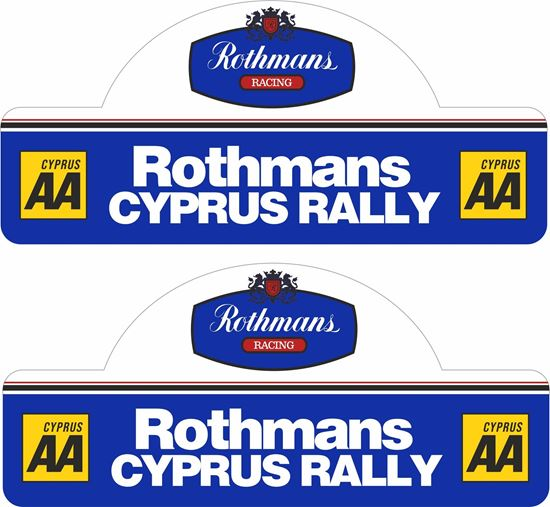 Picture of Rothmans Cyprus Rally Decals / Stickers
