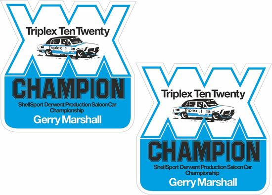 Picture of Gerry Marshall Triumph Dolomite Decals / Stickers