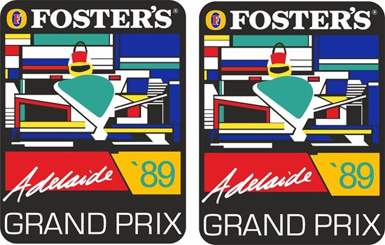 Picture of Foster's Adelaide 89 Decals / Stickers
