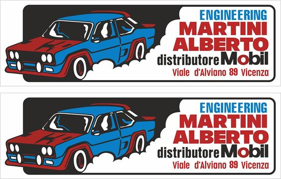 Picture of Fiat 131 Abarth Mobil Martini Alberto Engineering Rally Motorsport Decals / Stickers