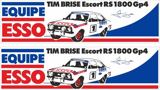 Picture of Esso Tim Brise Ford Escort Mk2 RS1800 Group 4 Decals / Stickers