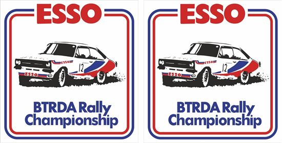 Picture of ESSO BTRDA Rally Championship Decals / Stickers