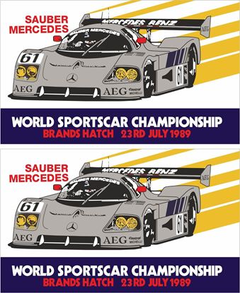 Picture of 1989 World Sports Car Championship Brands Hatch Decals / Stickers