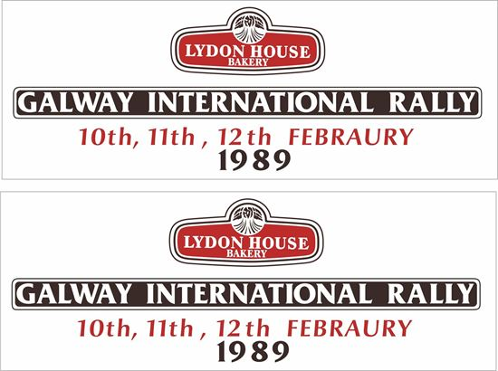 Picture of 1989 Galway International Rally Decals / Stickers