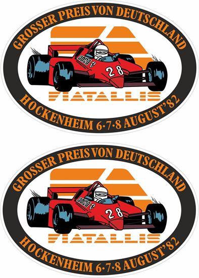 Picture of 1982 German Grand Prix Hockenheim Decals / Stickers