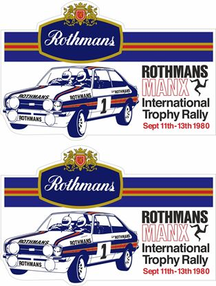 Picture of 1980 Rothmans Manx International Trophy Rally  Decals / Stickers