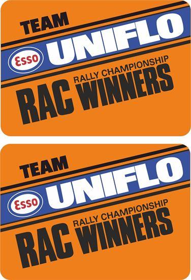 Picture of ESSO Team Uniflow RAC Winners Decals / Stickers