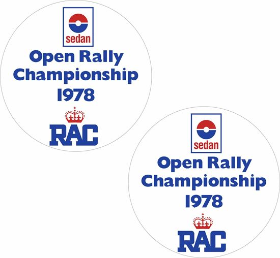 Picture of Sedan Open Rally 1978 Decals / Stickers