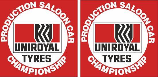 Picture of Uniroyal Production Saloon Car Championship Decals / Stickers