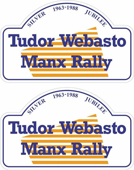Picture of Tudor Webasto Manx Rally Silver Jubilee 1963 - 1998 Decals / Stickers