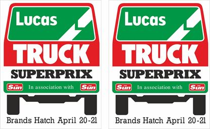 Picture of 1985 Lucas Truck Superprix Brands Hatch Decals / Stickers
