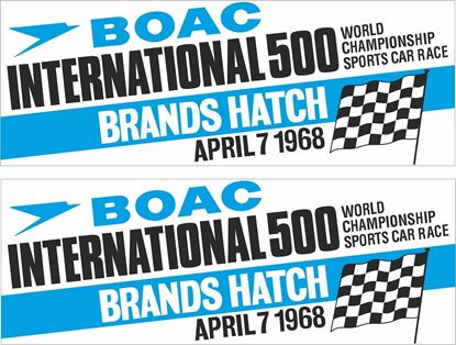 Picture of 1968 BOAC International Brands Hatch  Decals / Stickers