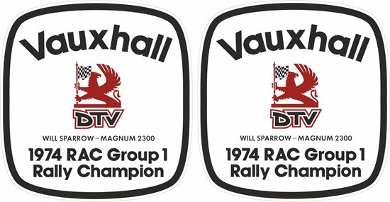 Picture of Vauxhall DTV 1974 RAC Group 1 Rally Champion Decals / Stickers