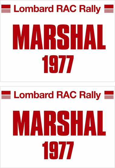 Picture of Lombard RAC Rally Marshal 1977 Door Decals / Stickers
