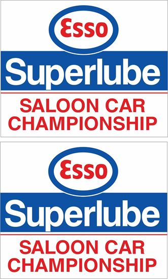Picture of ESSO Superlube Saloon Car Championship Decals / Stickers