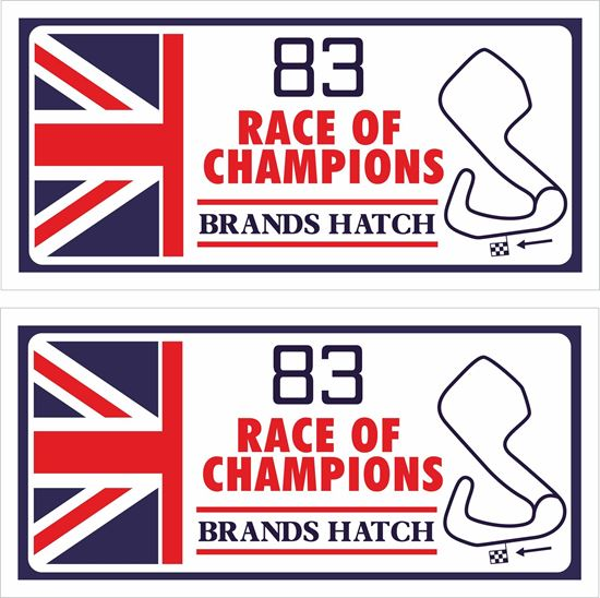 Picture of 1983 Race of Champions Brands Hatch Decals / Stickers