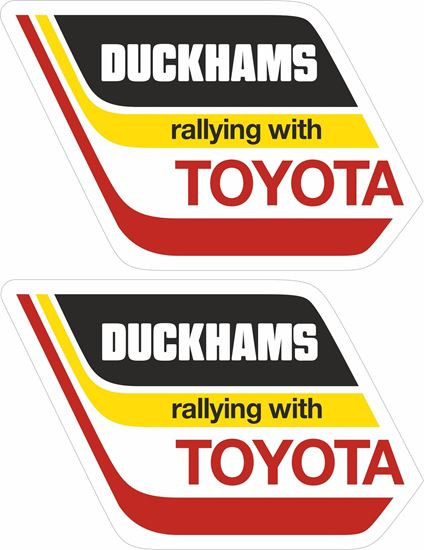 Picture of Duckhams Rallying with Toyota Decals / Stickers