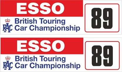 Picture of 1989 Esso RAC British Touring Car Championship Decals / Stickers