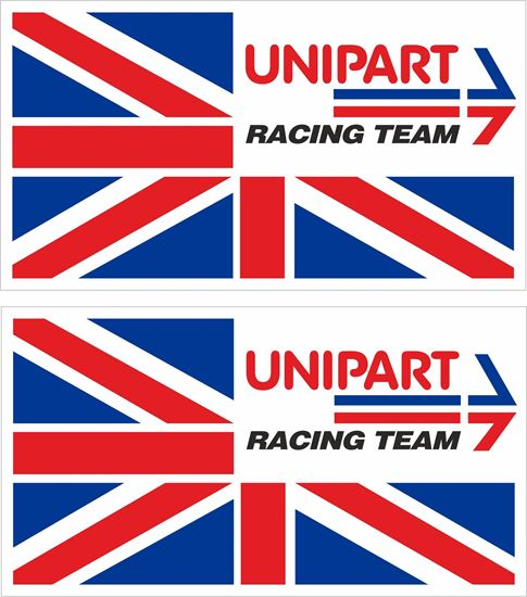 Picture of British Leyland Unipart Racing Team Decals / Stickers