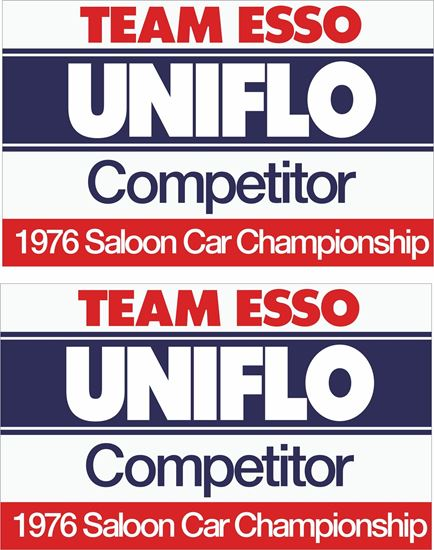 Picture of ESSO Team Saloon Car Championship Decals / Stickers