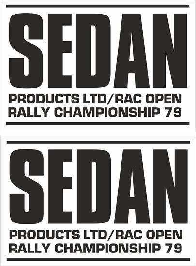 Picture of Sedan Products RAC Open Rally 1979 Decals / Stickers