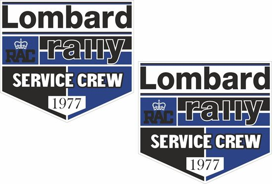 Picture of Lombard RAC Rally Service Crew 1977 Decals / Stickers