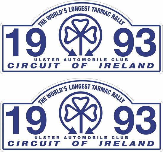 Picture of 1993 Circuit of Ireland Decals / Stickers