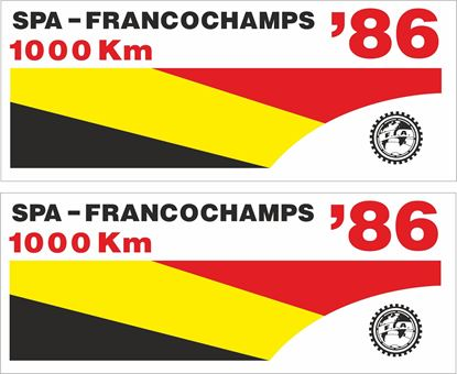 Picture of 1986 Spa Francochamps 1000KM GT Race Decals / Stickers