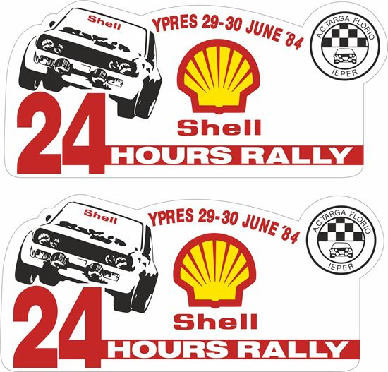 Picture of 1984 Shell Ypres 24 hours Rally Belgium Decals / Stickers