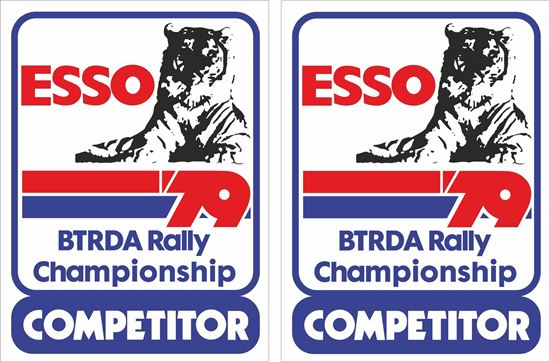 Picture of 1979 Esso BTRDA Championship Competitor Decals / Stickers