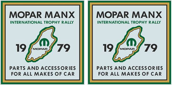 Picture of 1979 Mopar Manx International Trophy Rally Decals / Stickers