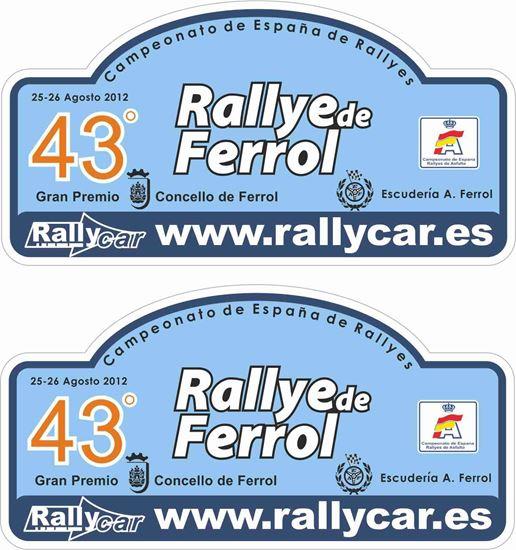 Picture of Rally Villa de Ferrol Decals / Stickers