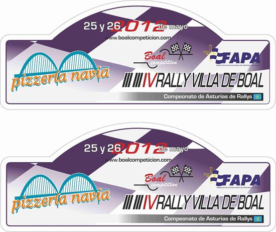 Picture of Rally Villa Boal Decals / Stickers
