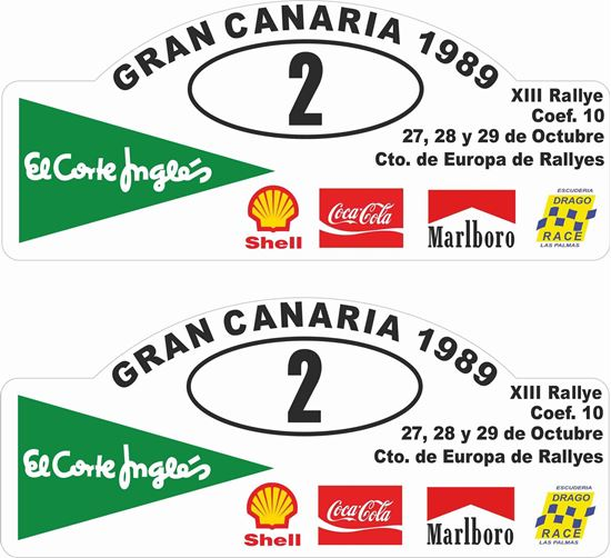 Picture of Gran Canaria Rally Decals / Stickers