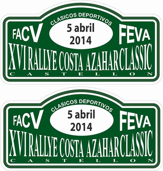 Picture of Costa Azahar Classic Rally Decals / Stickers