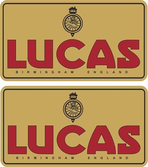 Picture of Lucas Batterie Decals / Stickers GOLD