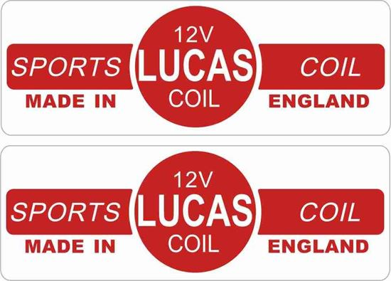 Picture of Lucas replacement 12V Sports Coil Decals / Stickers