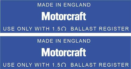 Picture of Motorcraft Made in England replacement ignition coil Decals / Stickers