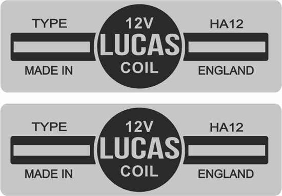 Picture of Lucas replacement 12V. 23. Coil Decals / Stickers