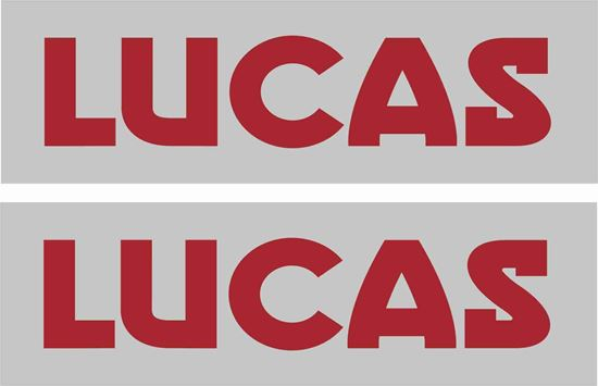 Picture of Lucas replacement Battery Decals / Stickers