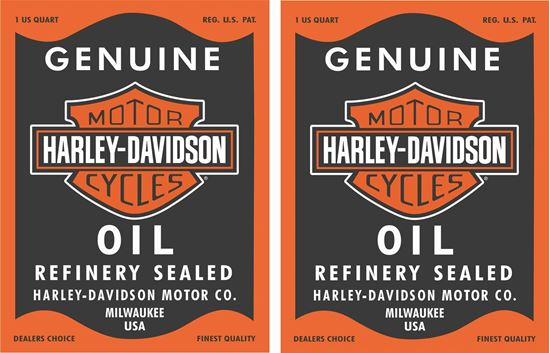Picture of Harley Davidson Oil Decals / Stickers