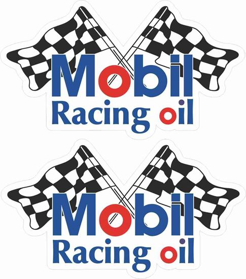 Picture of Mobil Racing Oil Decals / Stickers