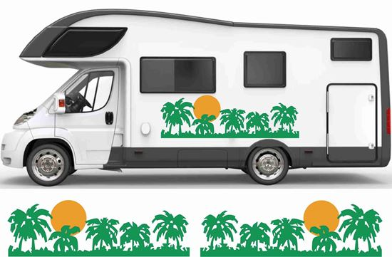 Picture of Sun and Palms side Camper Decals  / Stickers