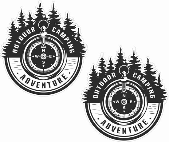 Picture of Outdoor Camping Adventure Decals / Stickers