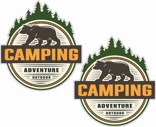 Picture of Camping Adventure Outdoor Decals / Stickers