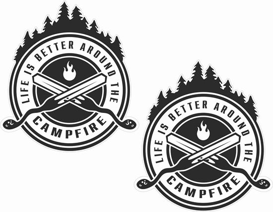 Picture of Life is better around the camp fire Decals / Stickers