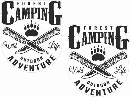 Picture of Forest Camping outdoor adventure Decals / Stickers